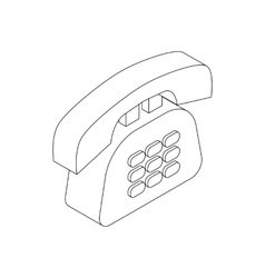 Office phone icon isometric 3d style vector image