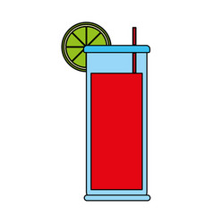refreshing liquor cocktail vector image