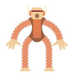 Robot monkey icon cartoon style vector