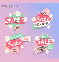 Sale - set of fashion color modern labels vector
