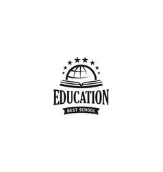 School logo monochrome vintage style vector