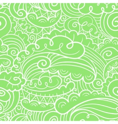 seamless background in doodle style vector image vector image