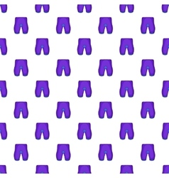 Shorts for cyclists pattern cartoon style vector