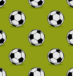 Soccer ball seamless pattern sport accessory vector