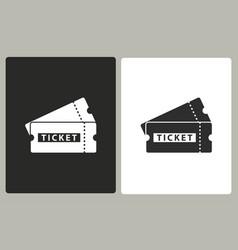 Ticket - icon vector