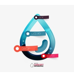 Water drop info layout concept vector