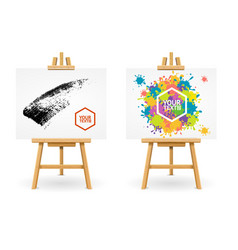 Wooden easel or painter desk vector