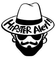 Word expression for hipster alert vector
