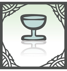 Outline wine glass goblet icon modern infographic vector