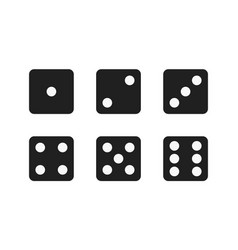 Isolated black dices vector