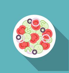 Salad icon vector