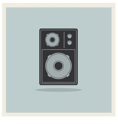 Retro background loudspeaker vector