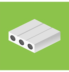 Isometric mattress structure vector