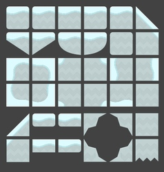 Tileset platformer light grey ground vector