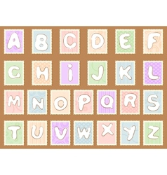 Stamp alphabet vector