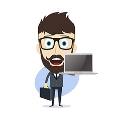 Businessman cartoon vector