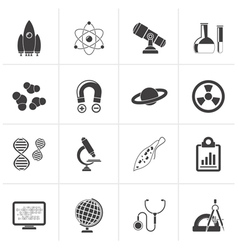 Black Science Research and Education Icons vector image