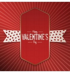 Big realistic valentines day poster with text vector