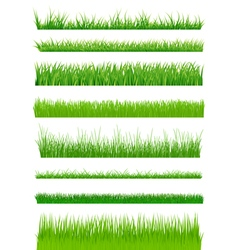 Green grass set vector