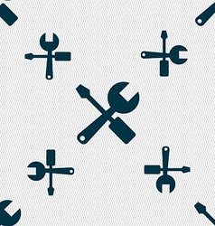 Wrench and screwdriver icon sign seamless pattern vector