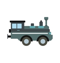 Train locomotive icon vector