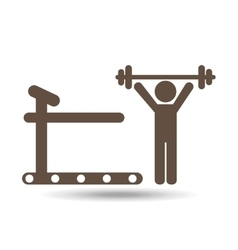 Gym workout design vector