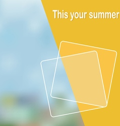 Abstract with a summer background vector image