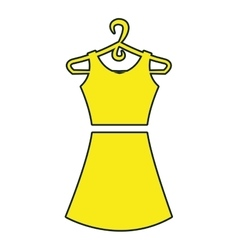 Fashion woman dress isolated icon vector