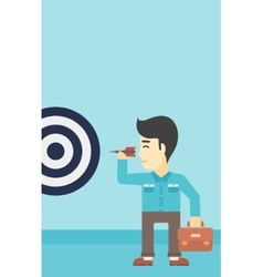 Businessman and target board vector