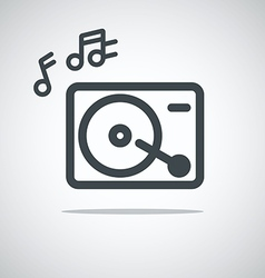 Modern media web icon Music player vector image