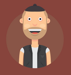 a man with a smile with vector image
