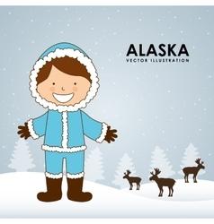 Alaska kid vector