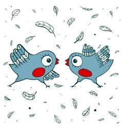 Birds Quarrel vector image