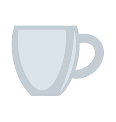 Ceramic grey cup isolated on vector