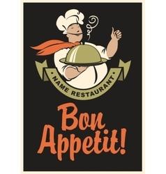 Chef bon appetit vector