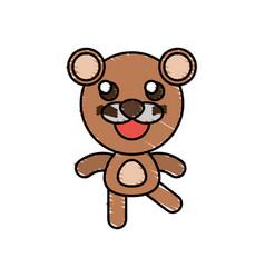 Drawing bear animal character vector