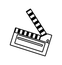 Film clapper chalkboard scene icon outline vector