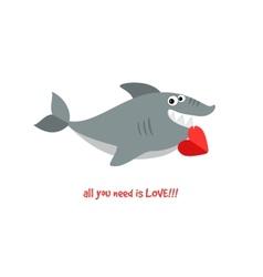 Friendly smiling shark vector