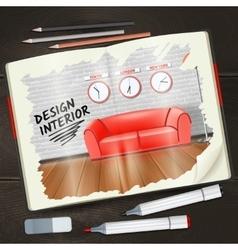 Interior Sketchbook vector image