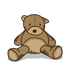 Little brown teddy bear vector image vector image
