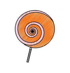 lollipop sweet candy vector image vector image