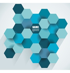 Modern abstract hexagon background vector image vector image