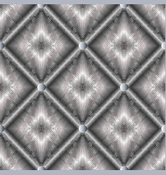 modern geometric silver 3d seamless pattern vector image vector image