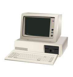 old computer unit vector image