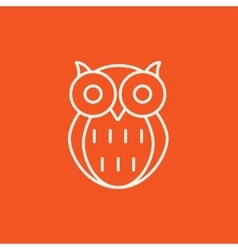 Owl line icon vector image vector image