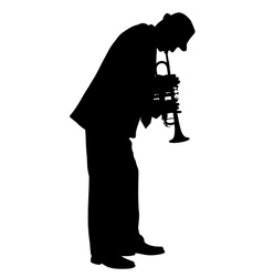 Trumpet player vector