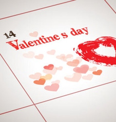 Valentine day today vector image