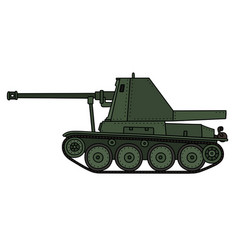 Vintage self propelled gun vector