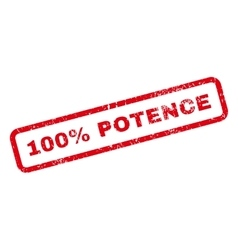 100 percent potence text rubber stamp vector