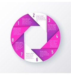 Elements for infographics template of a vector
